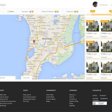 SaffronStays - creative web design company india - ezeelive technologies