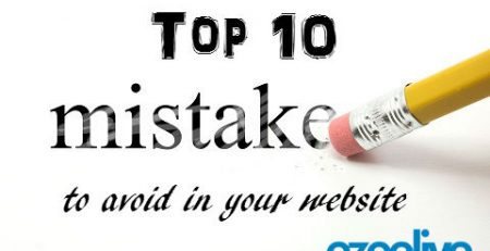ezeelive technologies - top ten mistake to avoid in your website