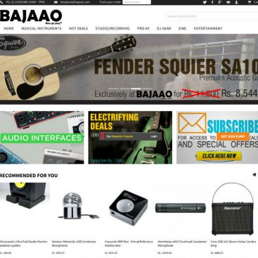 Music Instrument eCommerce Portal Developer India