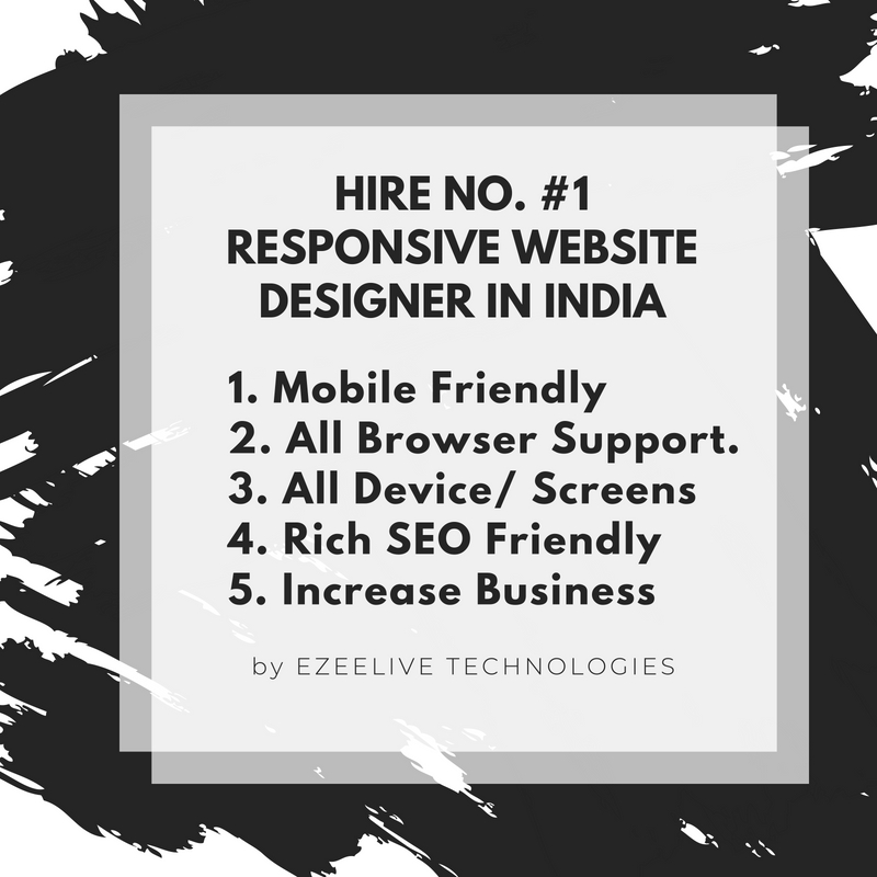 Hire No #1 Responsive Website Designer in India