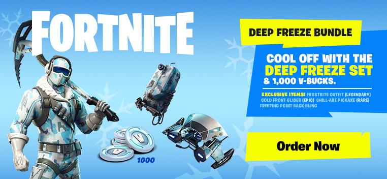 Fortnite Deep Freeze Bundle Out Now