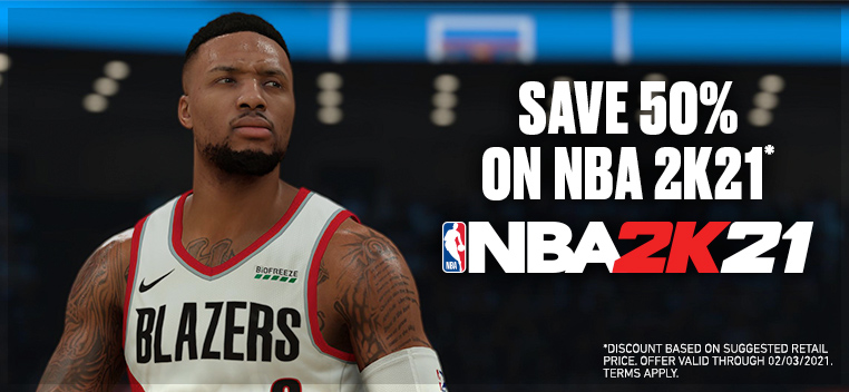 NBA 2K21 50% Off Offer