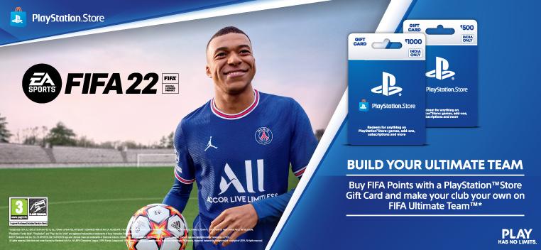 FIFA 22 PS Gift Card