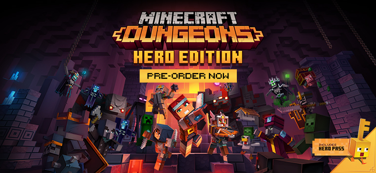 Minecraft Dungeons Hero Edition Pre order Now