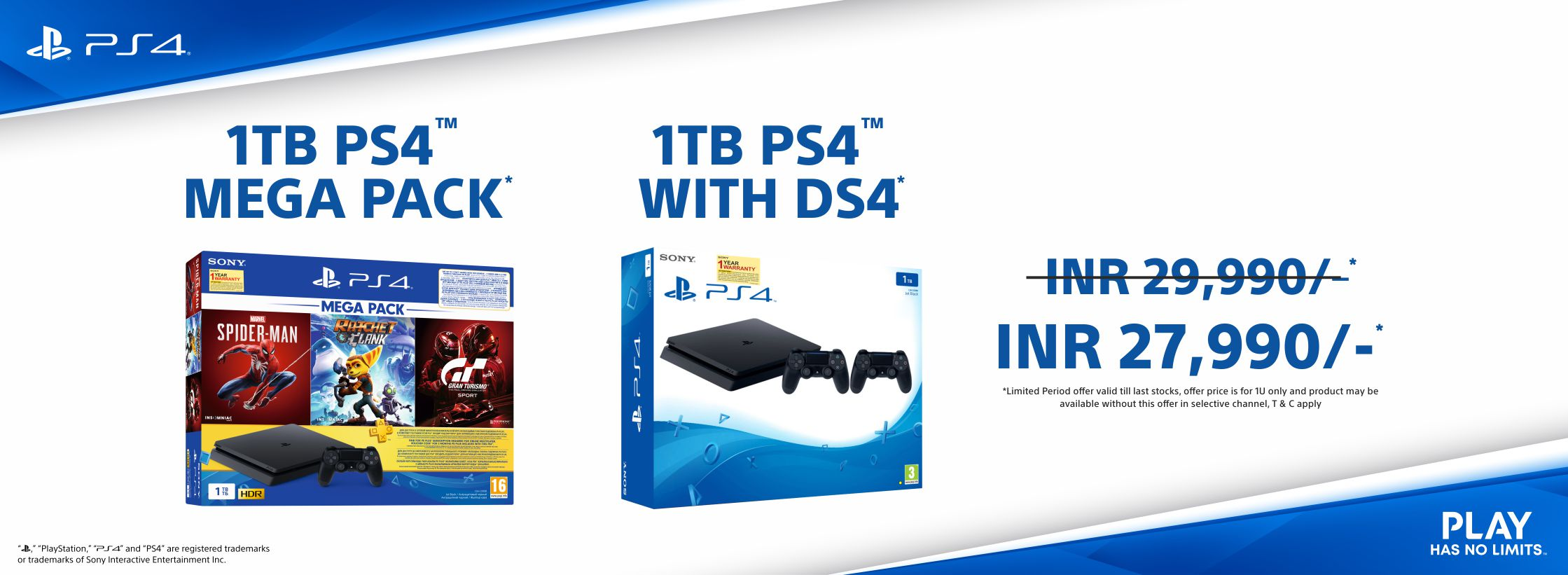 PS4 BUNDLE of 1TB Slim