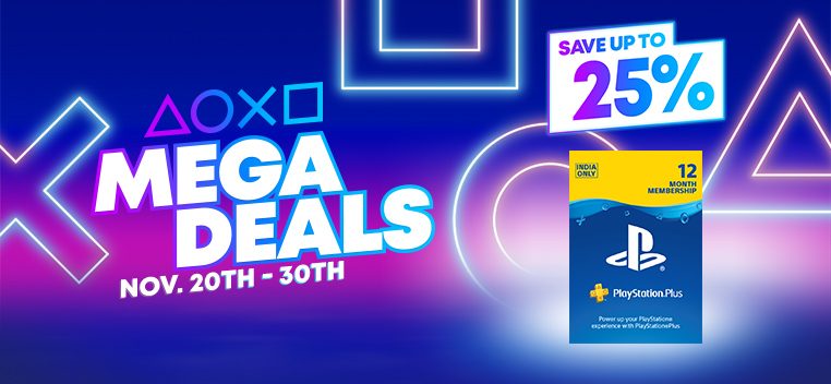 12Months Playstation Card 25% off Offer