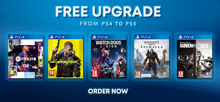PS4 Games Free Upgrade to PS5