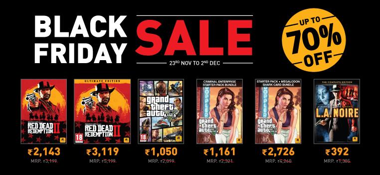 Rockstar Games Black Friday