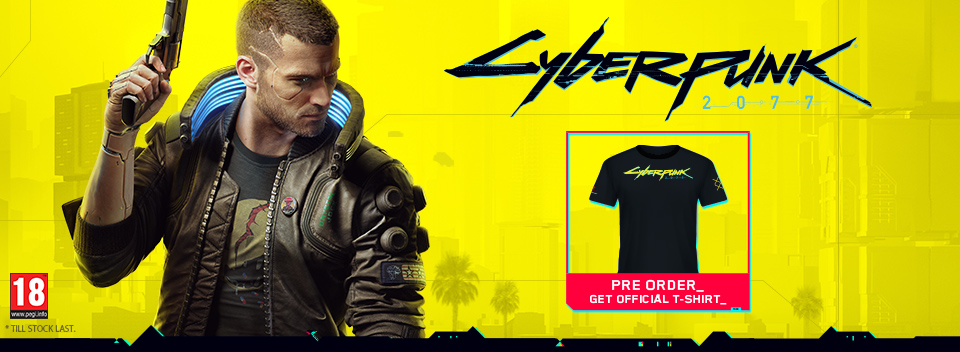 Cyberpunk 2077 Pre order Bonus T-Shirt