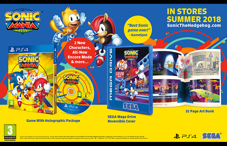 Buy Sonic Mania Plus online PS4,XBOX ONE,Nintendo Switch in