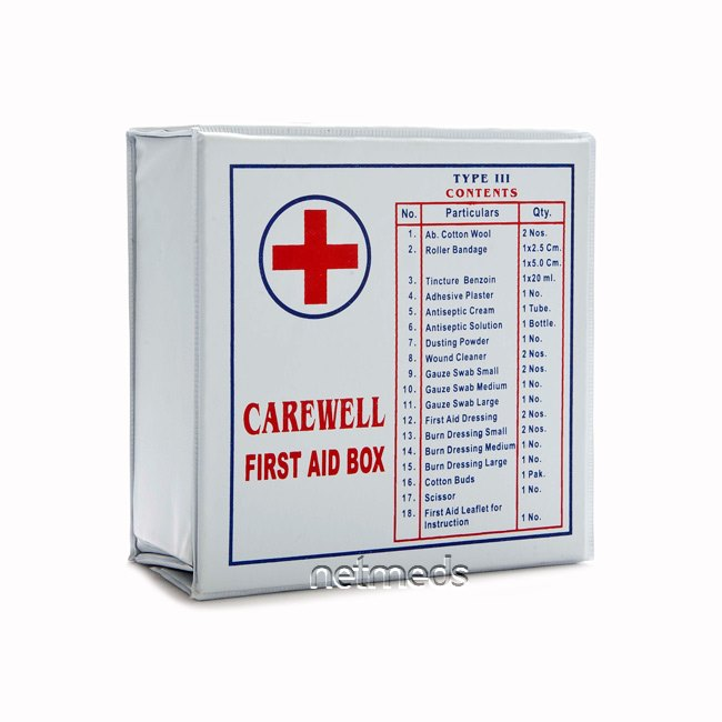 Buy Carewell First Aid Box Type 6 (Plastic Box)