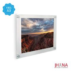 Acrylic Frame Dinding 01A3 3mm - FB01ZA3FD0F
