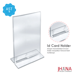 Acrylic Tentcard 01A5 T Portrait Plus Id card Holder - TC01ZA5TP1C
