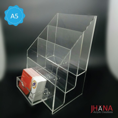 Acrylic Brochure Holder 3 Susun A5 Plus Id Card Holder - TB40ZA5ZP1D
