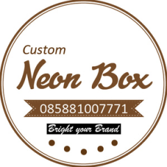D 60cm Neon Box Acrylic Ring Galvanis 1 Sisi - NBRGZ60SS1F
