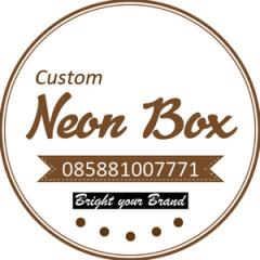 D 80cm Neon Box Acrylic Ring Galvanis 1 Sisi - NBRGZ80SS1F