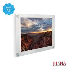 Acrylic Frame Dinding 01A3 2mm - FB01ZA3FD0C