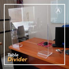 Acrylic Table Divider Meja Customer Service TD03
