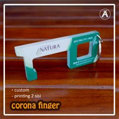 ACRYLIC CORONA FINGER FULL PRINTING UV COFING GANCI