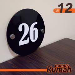 Nomor Rumah Akrilik NR12 20x20cm