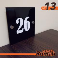 Nomor Rumah Akrilik NR13 20x20cm