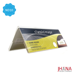 Name Desk ND10L 30x8cm / Acrylic Sign / Name Plate / Desk Label / Display Kartu Nama