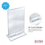 Acrylic Tentcard 01A5 T Portrait Plus Id card Holder - TC01ZA5TP1C