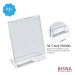 Acrylic Tentcard 01A4 L Portrait Plus Id Card Holder - TC01ZA4TP1C