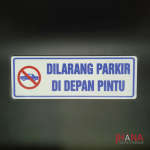 Plat Dilarang Parkir 290x100mm - AS11Z03ZZ0C