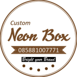 D 50cm Neon Box Acrylic Ring Galvanis 1 Sisi - NBRGZ50SS1F