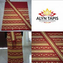Tapis Lampung Asli motif abung warna merah
