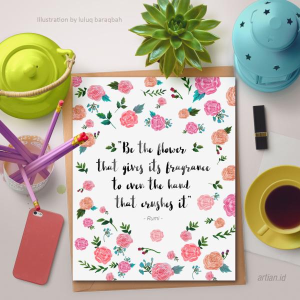 Be the flower (Custom text)