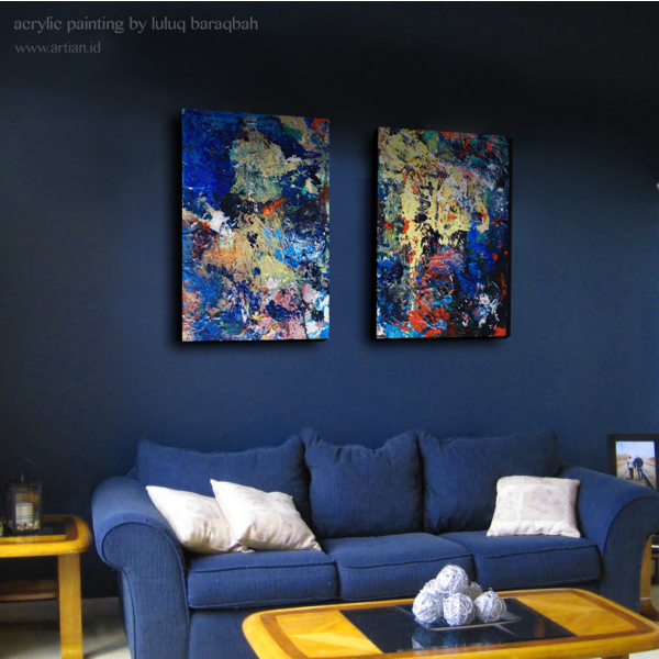 Blue Distraction - Series A (Set of 2)