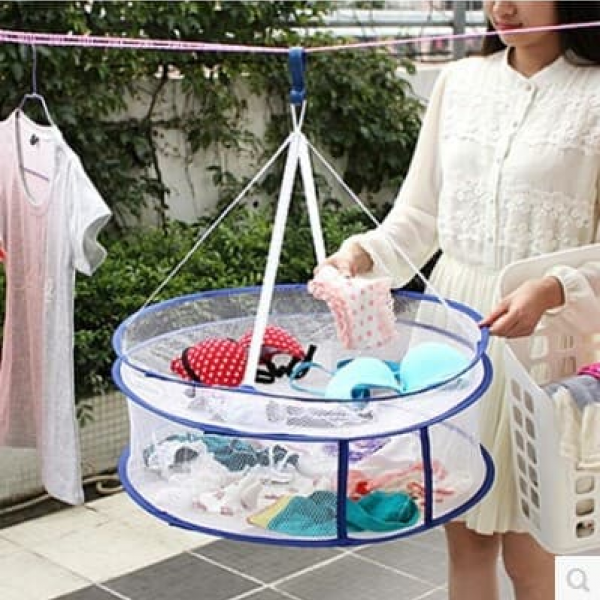 RT041 Jemuran Jaring Boneka Baju Kaos Kaki 2 Tingkat Bisa Dilipat