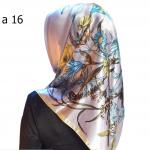HIJAB SILK SEGI EMPAT PREMIUM / KERUDUNG MUSLIMAH HMA016