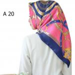 HIJAB SILK SEGI EMPAT PREMIUM / KERUDUNG MUSLIMAH HMA020