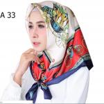 HIJAB SILK SEGI EMPAT PREMIUM / KERUDUNG MUSLIMAH HMA033