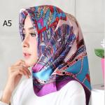 HIJAB SILK SEGI EMPAT PREMIUM / KERUDUNG MUSLIMAH HMA005