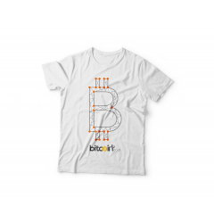 Tshirt BItcoin Dots ( Orange )