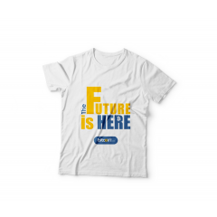 Tshirt The Future Is Here 2 ( White )