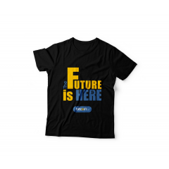 Tshirt The Future Is Here 2 ( Black )