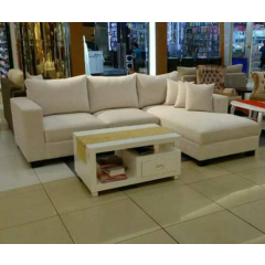 Sofa bahan kain/ bludru (per seater), jika letter L tambah 25 k