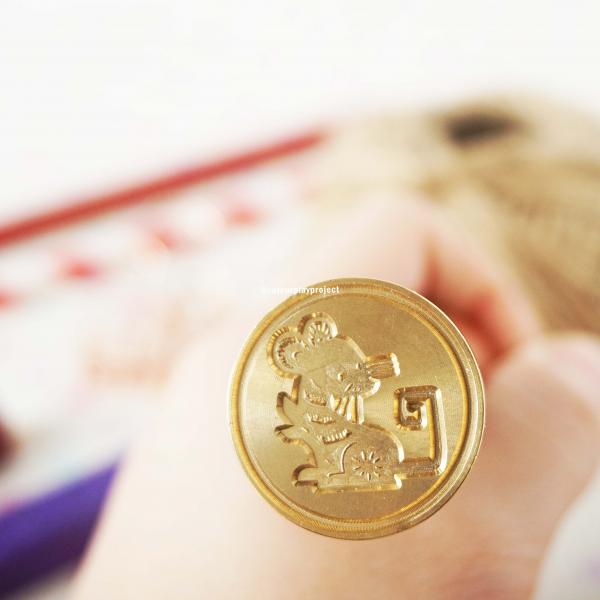Wax Stamp Chinese Zodiac 1 - Rat