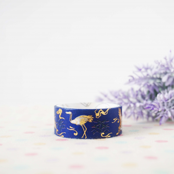 WT0009 15mm x 2m Washi / Masking tape (Gold Foil)