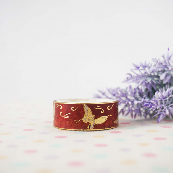 WT0025 15mm x 2m Washi / Masking tape (Gold Foil)