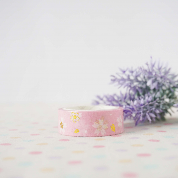WT0052 15mm x 3m Washi / Masking tape (Gold Foil)