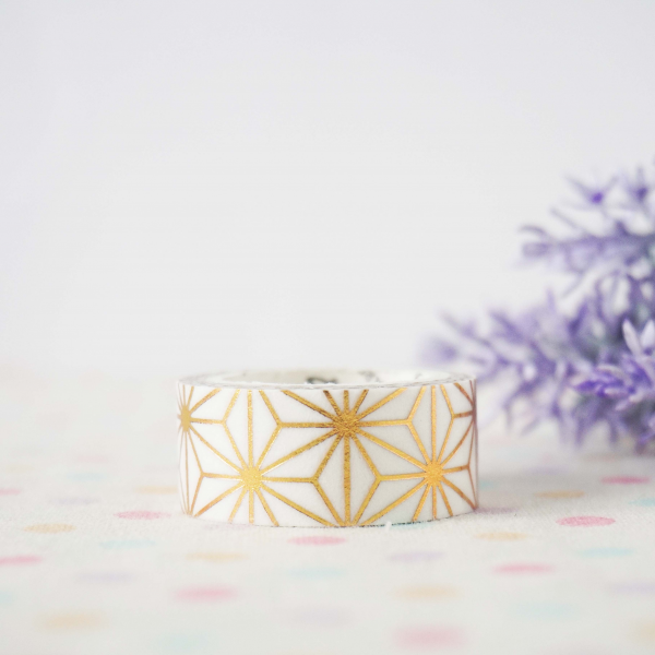 WT0069 15mm x 3m Washi / Masking tape (Gold Foil)