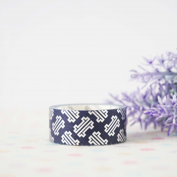 WT0072 15mm x 3m Washi / Masking tape (Silver Foil)