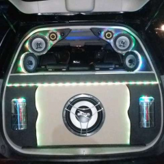 Custom box & Mounting Audio Pajero 2013