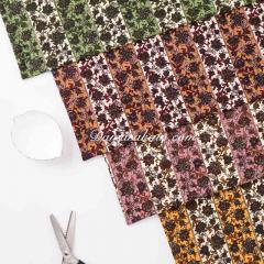 Knitting polyester tebal bunga